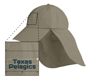 "Adams Extreme Outdoor Cap: Need a hat for those long, hot afternoons on the pelagic? Lightweight 70% cotton, 30% nylon fabric is treated with DuPont Teflon water and stain repellent to reflect UV rays (UPF 45+). Neck cape with patented zipper pocket. Terry cloth sweatband. Sewn eyelets. Matching fabric lining only behind front panel. Metal clip attaches to collar and a cord system with a barrel lock adjusts sizing. Adams exclusive Cool-Crown mesh lining. 3-3/4"" visor length for added sun protection. Green undervisor to reduce sun glare. One Size Fits All"